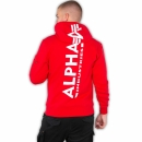 Alpha Back Print Hoody speed red