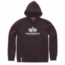 Alpha Basic Hoody deep maroon