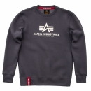 Alpha Basic Sweater greyblack