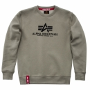 Alpha Basic Sweater olive