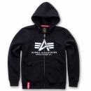 Alpha Basic Zip Hoody schwarz