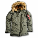 Alpha Fliegerparka Explorer dark green