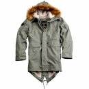 Alpha Industries Hooded Fishtail III olive