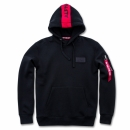 Alpha Red Stripe Hoody schwarz
