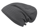 Beanie JOHN Ajour-knit anthrazit mit Fleece