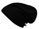 Beanie JOHN Ajour-knit black mit Fleece