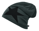 Beanie STAR anthrazit mit Fleece
