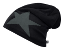 Beanie STAR black mit Fleece