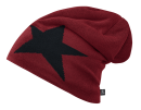 Beanie STAR bordeaux mit Fleece