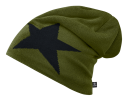 Beanie STAR olive mit Fleece