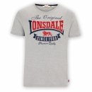 Lonsdale T-Shirt CORRIE marl grey