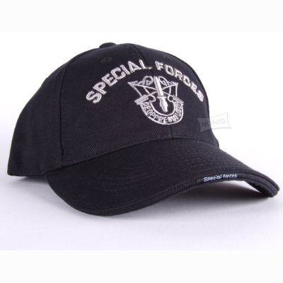Cap Special Forces schwarz/silber