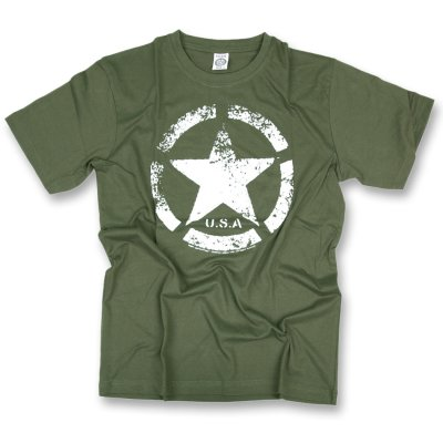 T-Shirt US Army Vintage Star T oliv