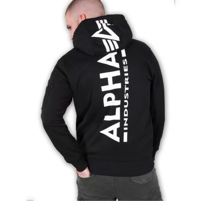 Alpha Back Print Hoody black