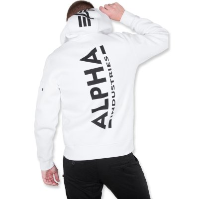 Alpha Back Print Hoody white