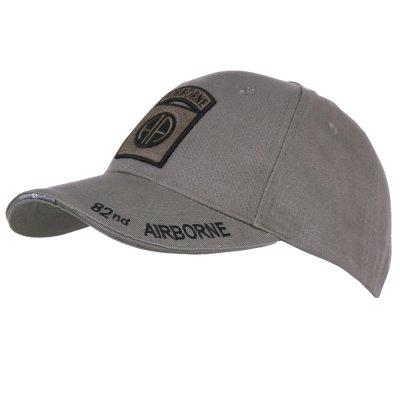 Baseball Cap 82nd Airborne grey