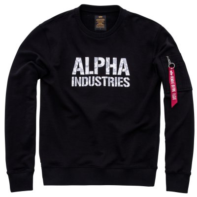 Alpha Camo Print Sweat black/white