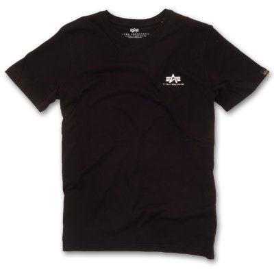 Alpha Basic T Small Logo black XS