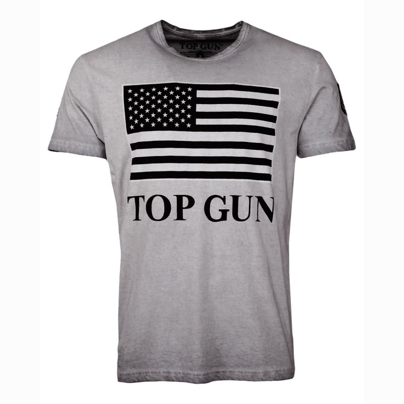 Top Gun Search T-Shirt grey Vintage Look