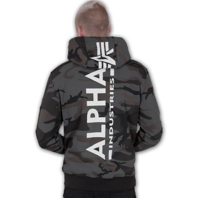 Alpha Back Print Hoody black camo