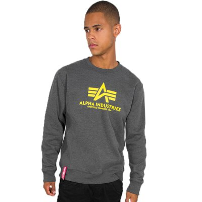 Alpha Basic Sweater charcoal heather