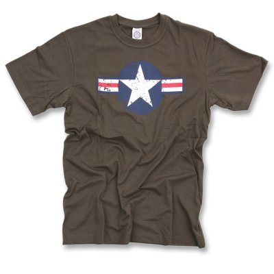T-Shirt WWII US AirF. Star oliv